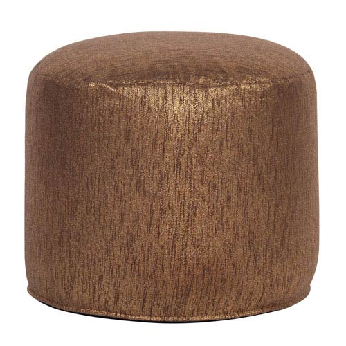 Howard Elliott Collection Glam Chocolate Tall Pouf