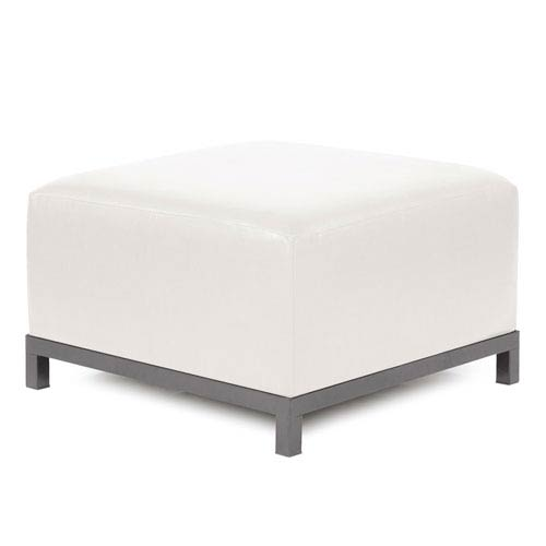 Howard Elliott Collection Axis Avanti White Ottoman Slipcover