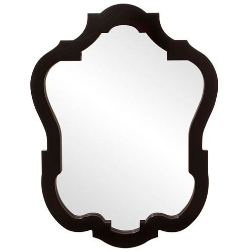 Howard Elliott Collection Asbury Glossy Black Oval Mirror