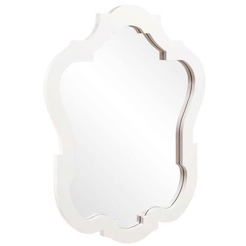Asbury Glossy White Oval Mirror