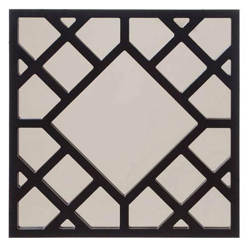 Howard Elliott Collection Anakin Black Lattice Square Mirror