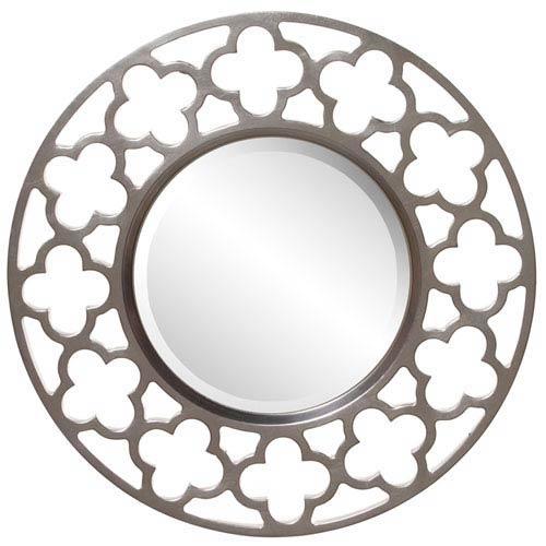 Howard Elliott Collection Gaelic Nickel Round Mirror