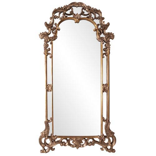 Howard Elliott Collection Imperial Mottled Bronze and Antique Silver Rectangle Mirror
