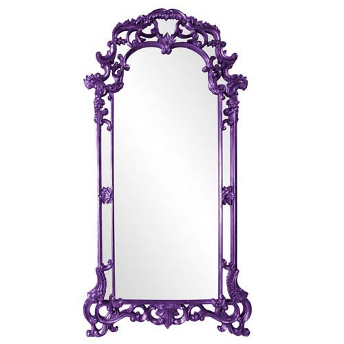 Howard Elliott Collection Imperial Royal Purple Rectangle Mirror