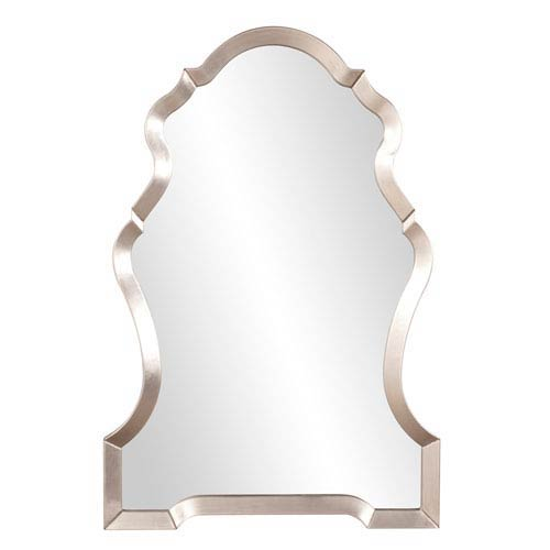 Hammered Pewter Wide Vase Mirror