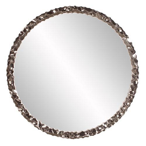 Howard Elliott Collection Memphis Round Nickel Mirror