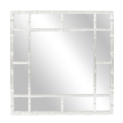 Bamboo Glossy White Mirror