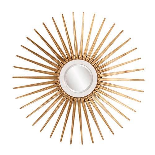 Howard Elliott Collection Solar Round Gold Mirror