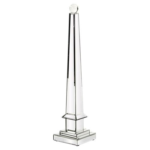 Mirrored Obelisk with Glass Ball - Large