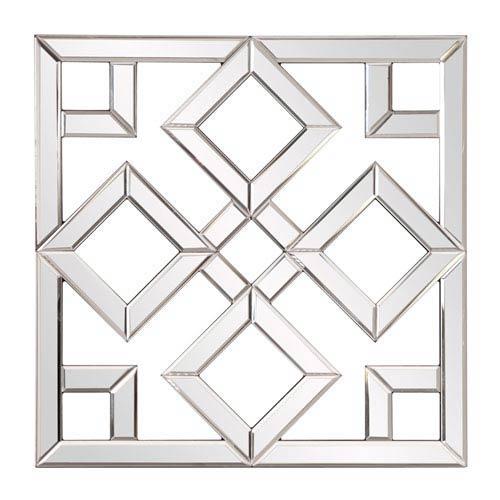 Howard Elliott Collection Moira Mirrored Lattice Mirror