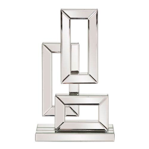 Abstract Geometric Mirrored Sculpture Small