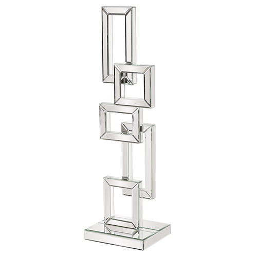 Abstract Geometric Mirrored Sculpture Large
