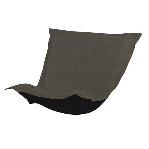 Howard Elliott Collection Sterling Charcoal Puff Chair Cover