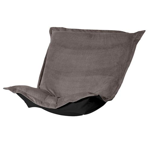 Bella Pewter Puff Chair Cover