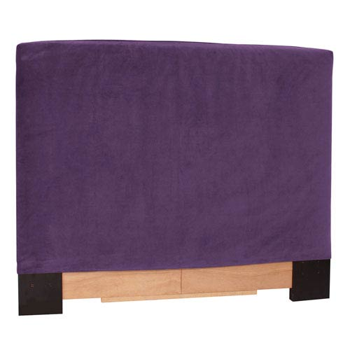 Howard Elliott Collection Bella Eggplant 53-Inch King Headboard Slipcover
