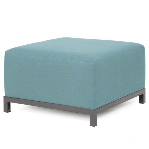 Howard Elliott Collection Axis Sterling Breeze Ottoman with Titanium Frame