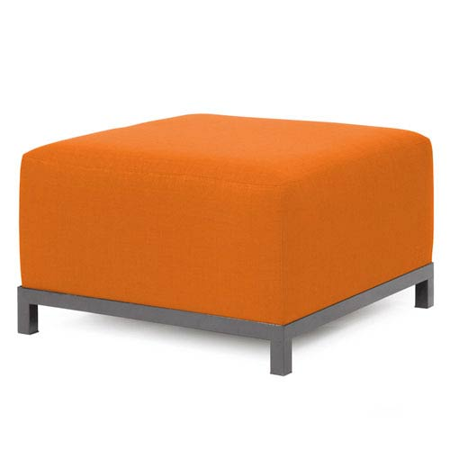 Axis Sterling Canyon Ottoman with Titanium Frame