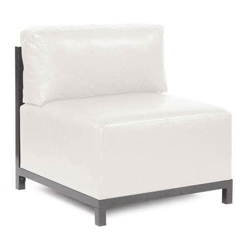Axis Avanti White Accent Chair with Titanium Frame