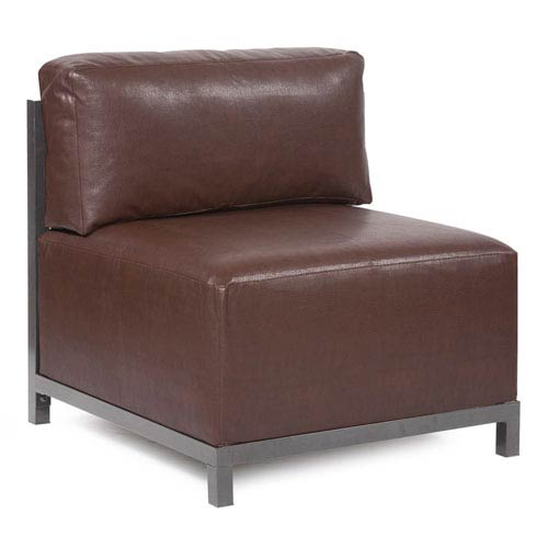Axis Avanti Pecan Accent Chair with Titanium Frame