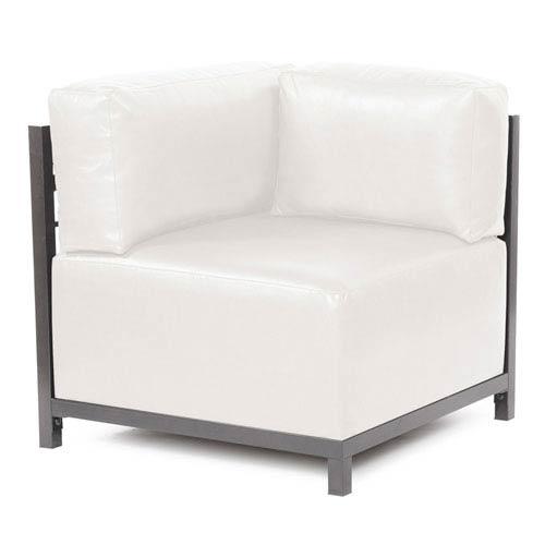 Axis Avanti White Corner Chair with Titanium Frame