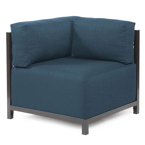 Axis Sterling Indigo Corner Chair with Titanium Frame