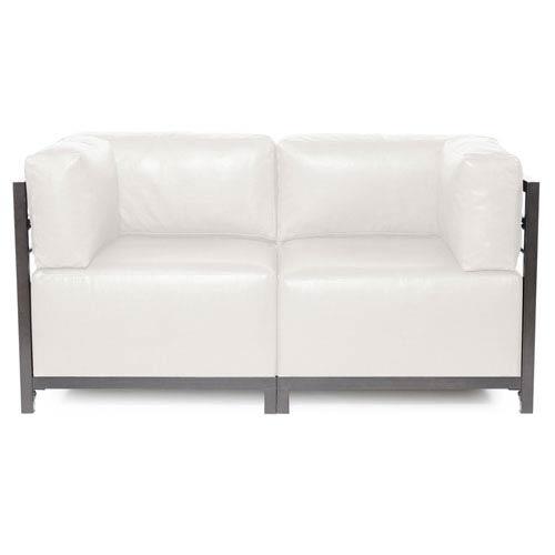 Howard Elliott Collection Axis Avanti White 2-Piece Sectional Sofa with Titanium Frame