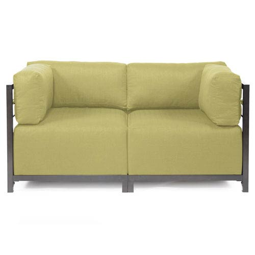 Howard Elliott Collection Axis Sterling Willow Sectional Sofa With Titanium  Frame