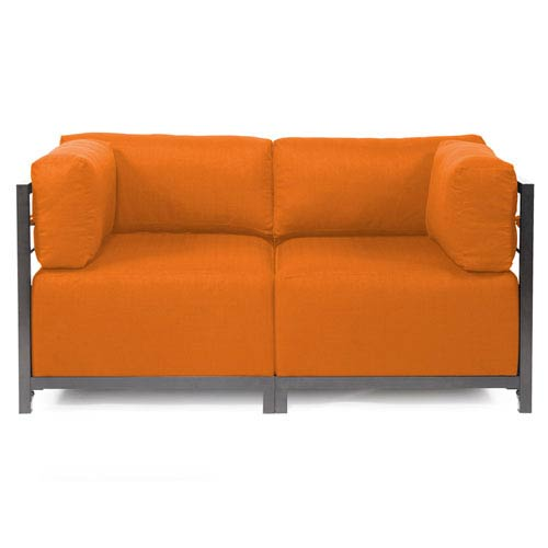 Howard Elliott Collection Axis Sterling Canyon Sectional Sofa with Titanium Frame