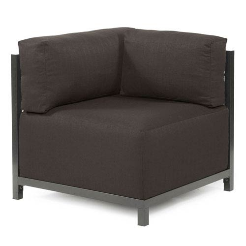 Axis Seascape Charcoal Corner Chair with Titanium Frame