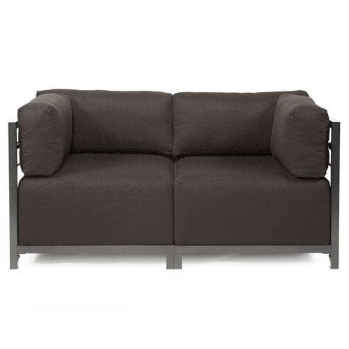 Howard Elliott Collection Axis 2-Piece Seascape Charcoal Sectional with Titanium Frame