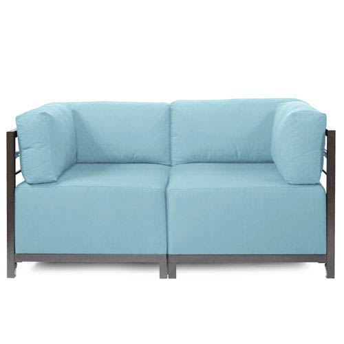 Howard Elliott Collection Axis 2-Piece Seascape Breeze Sectional with Titanium Frame