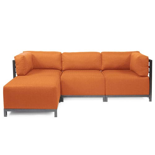 Axis Orange Seascape Titanium Frame Canyon Axis Outdoor 4-Piece Sectional