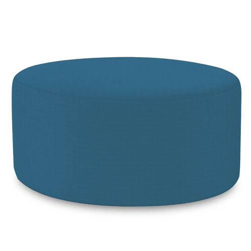 Howard Elliott Collection Universal Seascape Turquoise 36-Inch Round Ottoman