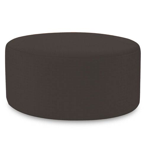 Howard Elliott Collection Universal Seascape Charcoal 36-Inch Round Ottoman