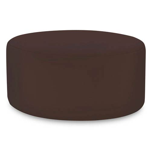 Universal Seascape Chocolate 36-Inch Round Ottoman