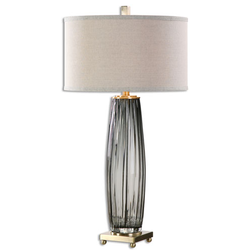 Vilminore Gray Glass One-Light Table Lamp