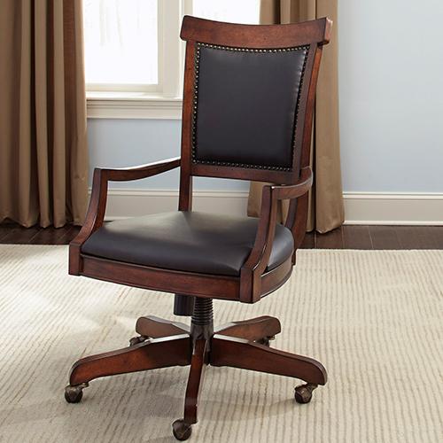 Brayton Manor Cognac 42-Inch Junior Executive Desk Chair (RTA)