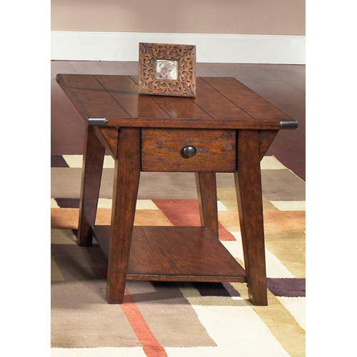 Cabin Fever Bistro Brown Drawer End Table