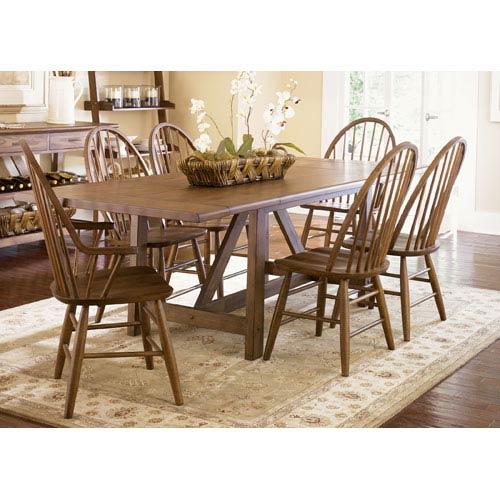Farmhouse Weathered Oak Trestle Table