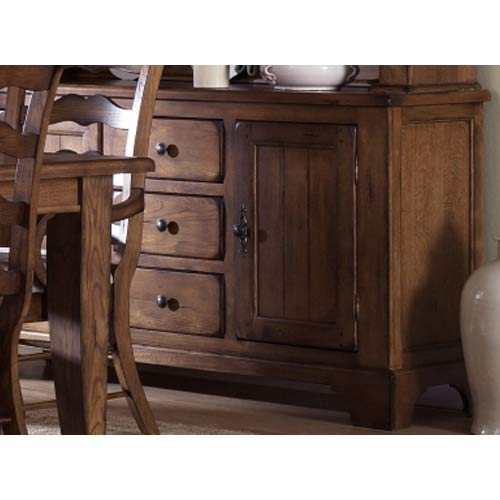 Treasures Rustic Oak Buffet