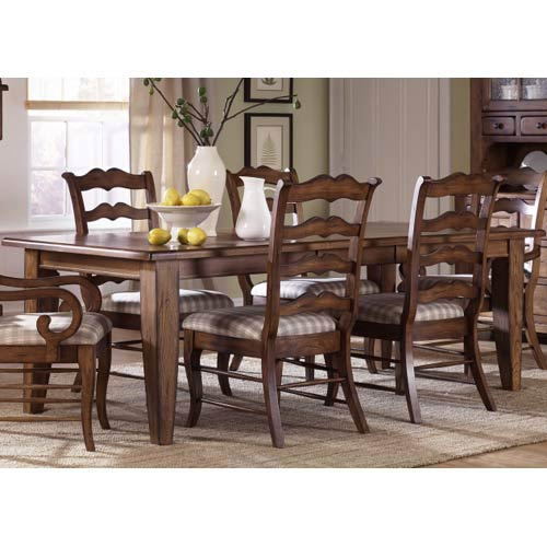Treasures Rustic Oak Rectangular Leg Table