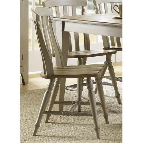 Liberty Furniture Al Fresco Driftwood and Taupe Slat Back Side Chair