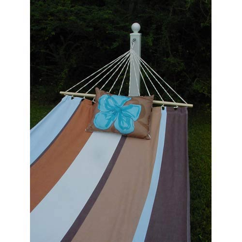 Thompson Stripe Hammock Set with Desert Blue Print Pillow