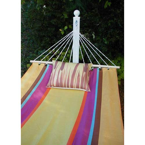 Cafe Soleil Stripe Hammock Set with Cattails Print Pillow