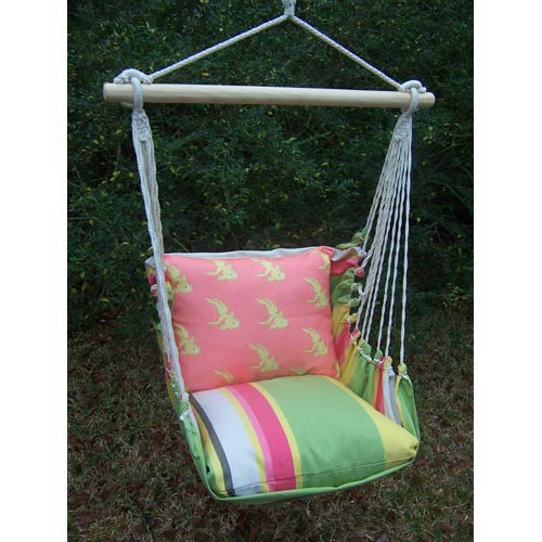 Fresh Lime Swing Hammock with Goldfish Pillow