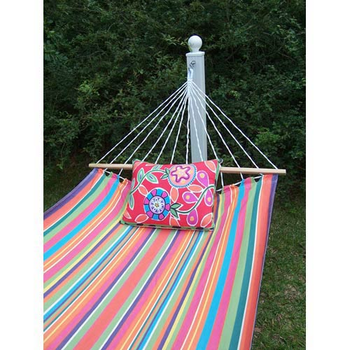 Magnolia Casual Le Jardin Stripe Hammock Set with Le Jardin Flower Pillow