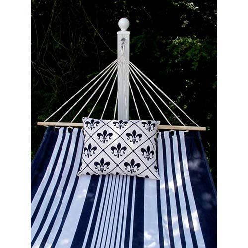 Metro Stripe Hammock Set with Fleur De Lis Pillow