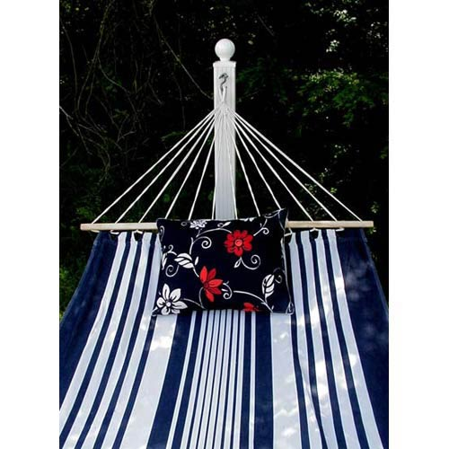 Metro Stripe Hammock Set with Summer Toile Pillow