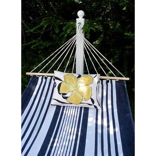 Metro Stripe Hammock Set with Yellow Print Pillow