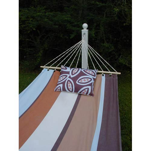 60Thompson Stripe Hammock Set with Peapods Print Pillow